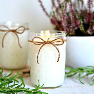 Lavender Rosemary Homemade Candles