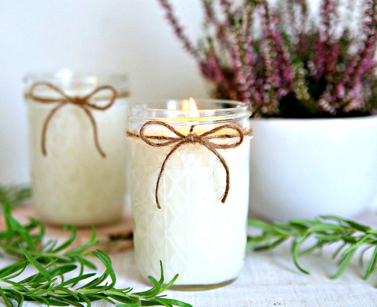 Handmade Lavender Rosemary Candles