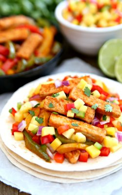 Pork Fajitas with Mango Salsa