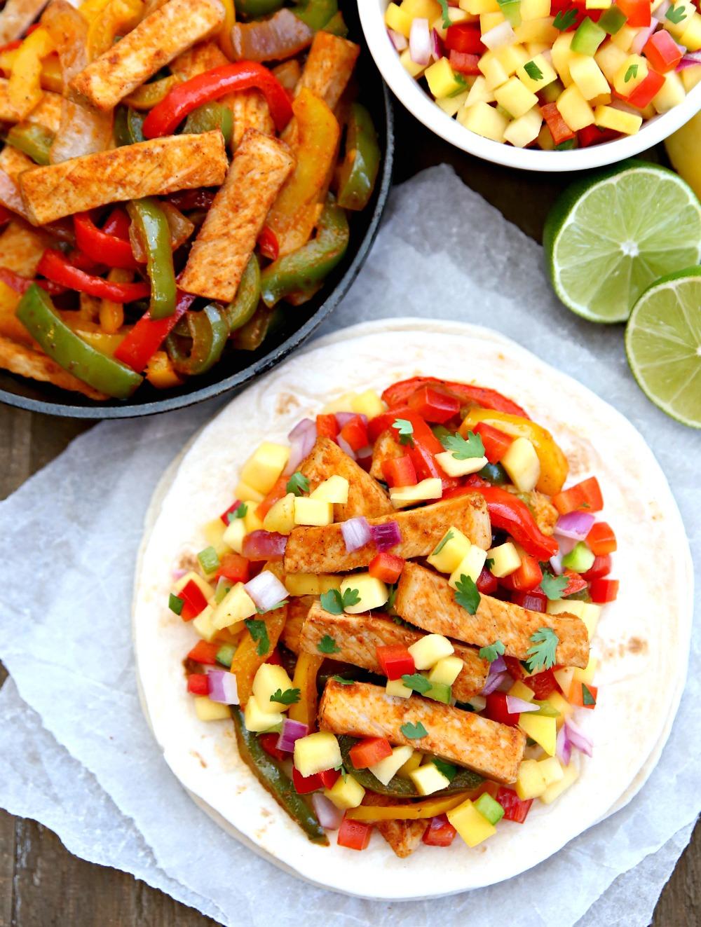 Pork Fajitas with Mango Salsa Recipe