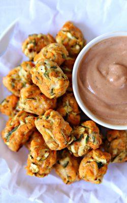 Sweet Potato Zucchini Tots