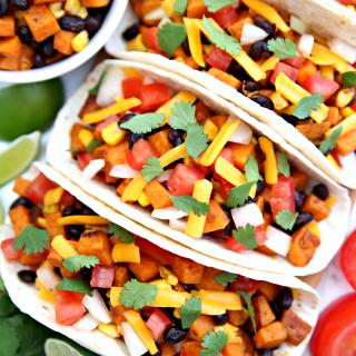 Sweet Potato and Black Bean Tacos {A Fun Challenge}