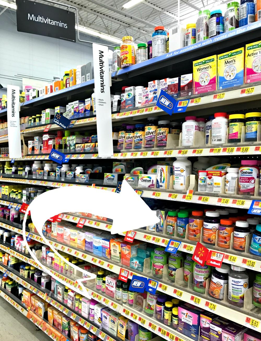 Vitamins at Walmart
