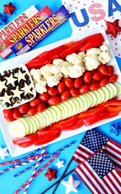 4th of July Vegetable Tray Patriotic Veggie Tray