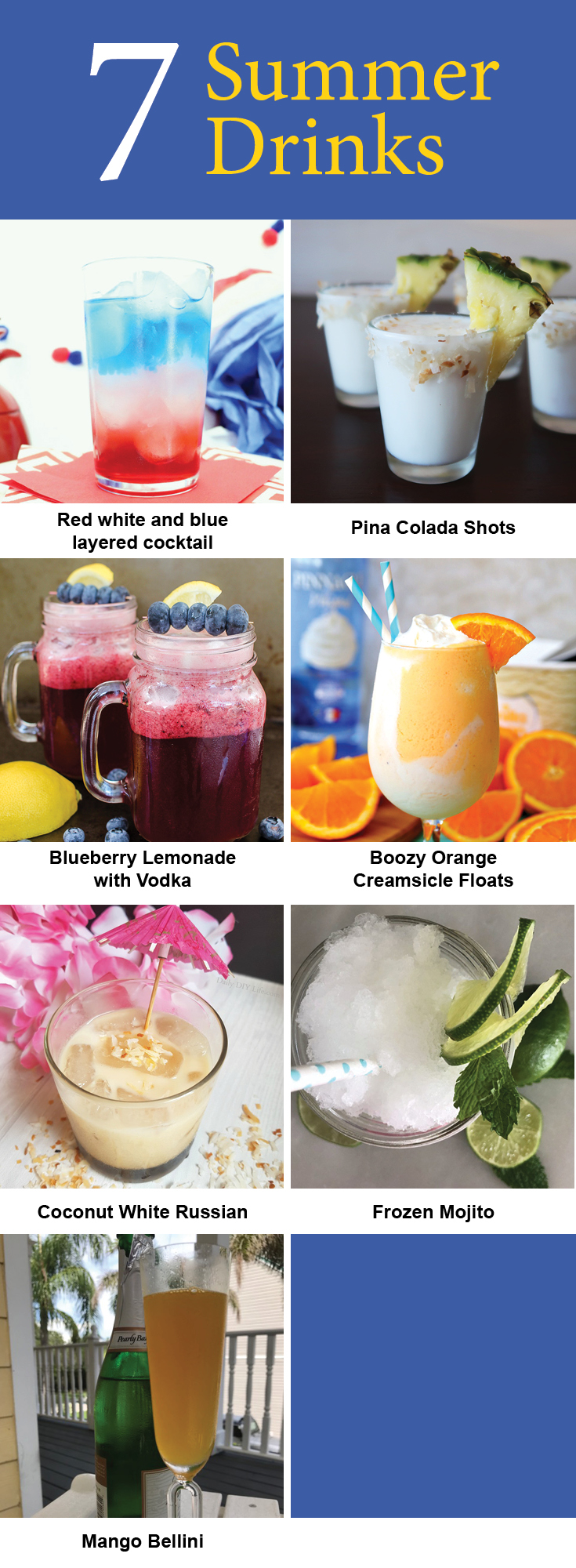 7 Summer Cocktails you have to make this summer! Relax with a refreshing cocktail.