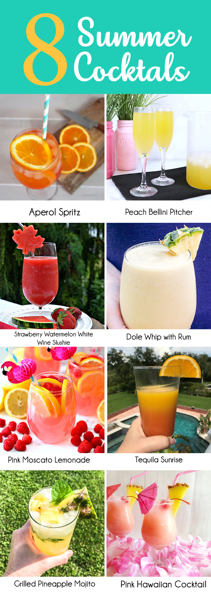 8 Summer Cocktails to make on a hot summer night