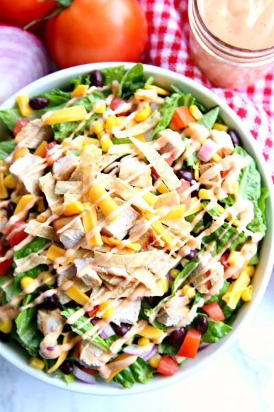 BBQ Chopped Salad with BBQ Ranch Salad