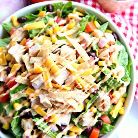 BBQ Chopped Salad with BBQ Ranch Salad