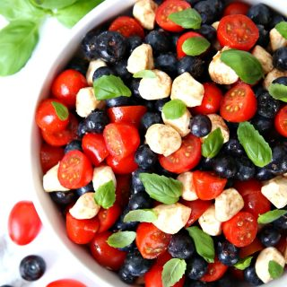 Red, White, and Blueberry Caprese Salad