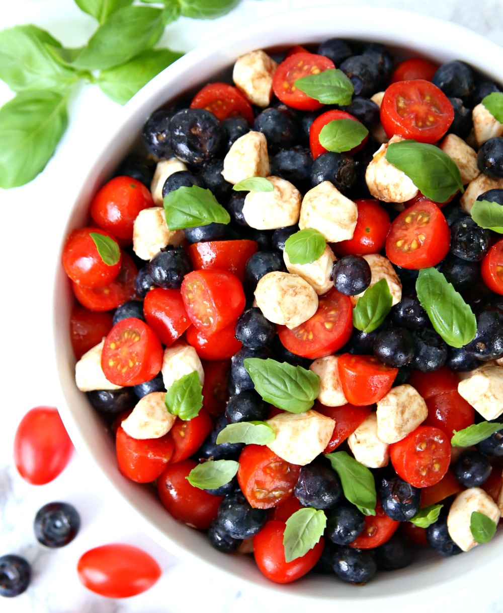 Blueberry Caprese Salad 4th of July Salad