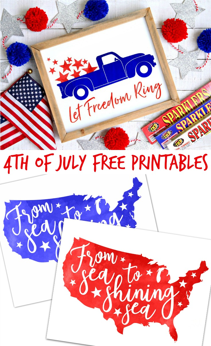 4th of July Free Printables Happy Go Lucky Blog