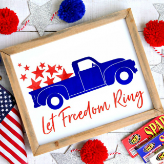 4th of July Vintage Truck Free Printable Let Freedom Ring