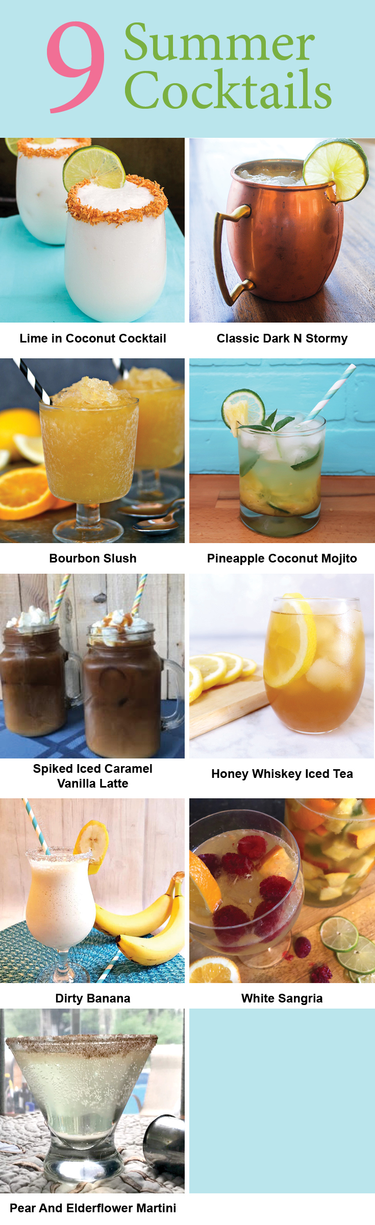 Delicious Cocktails to try this summer!