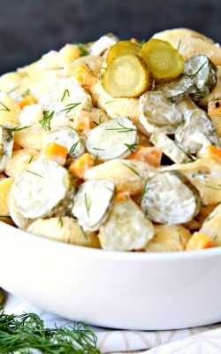A Must-Make Dill Pickle Pasta Salad Recipe