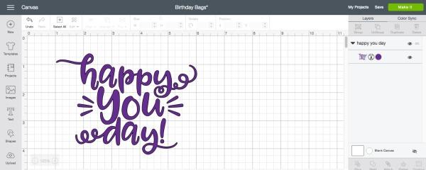 Create Custom Birthday Gift Bags with Cricut