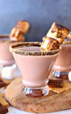 Enjoy a delicious s'mores martini on a warm summer night!
