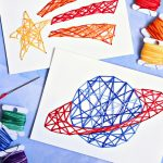 Stitched String Art Kids Craft Cricut Craft