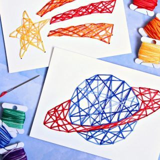 Easy Stitched String Art for Kids