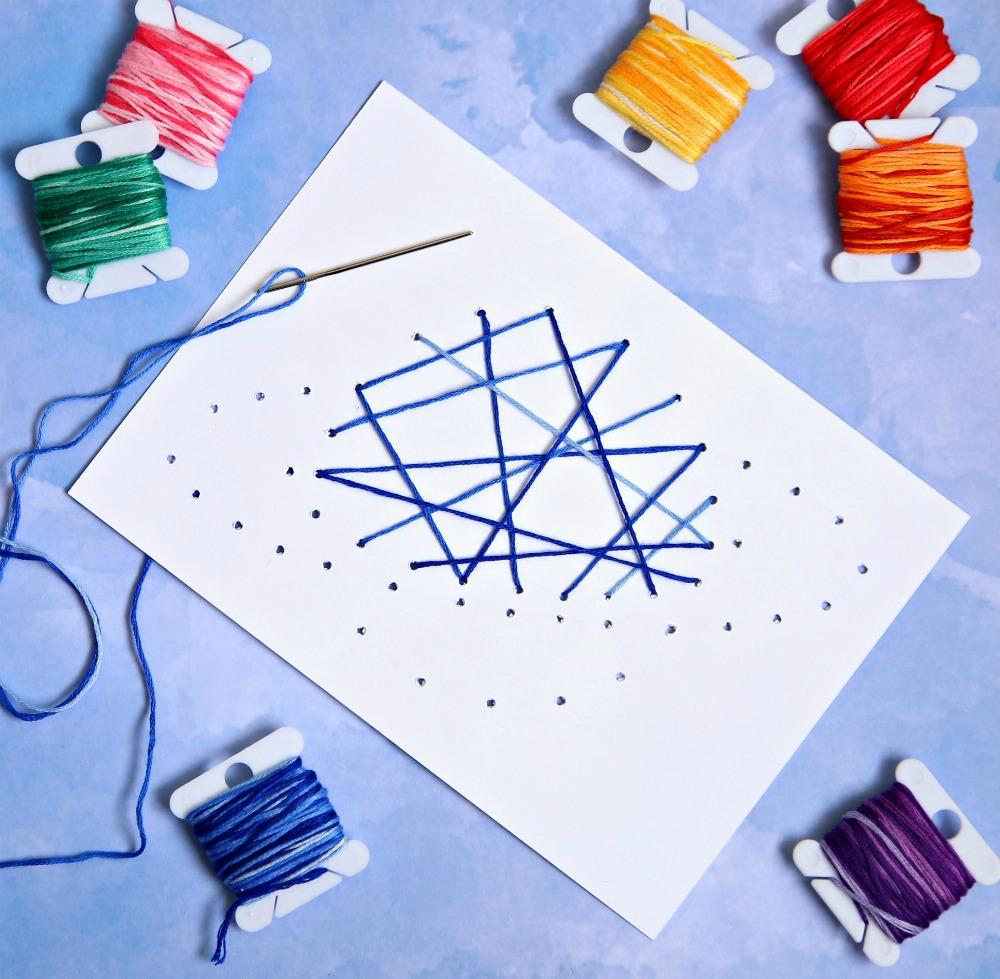 Stitched String Art Kids Craft