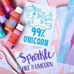 Make these fun Poured Canvas Art with Unicorn cut files and your Cricut.