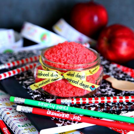 Apple Sugar Scrub Teacher Gift in a Mason Jar