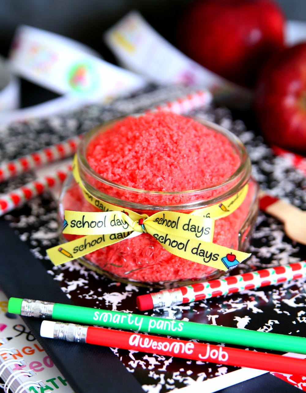 Apple Sugar Scrub Mason Jar Craft Teacher Gift