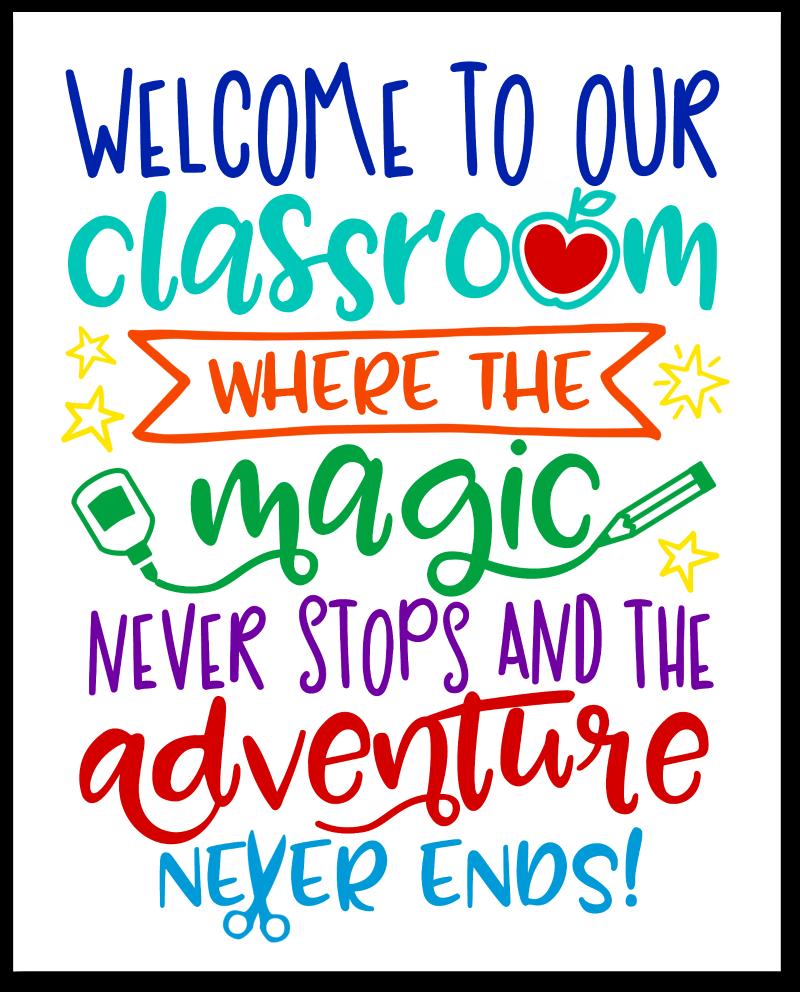 Classroom Adventure Free Printable