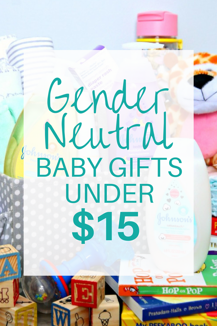 Gender Neutral Baby Gifts under $15 - A fabulous collection of baby essentials under $15