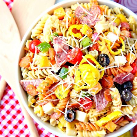 Pasta Pizza Salad is a delicious pasta salad that everyone will love!