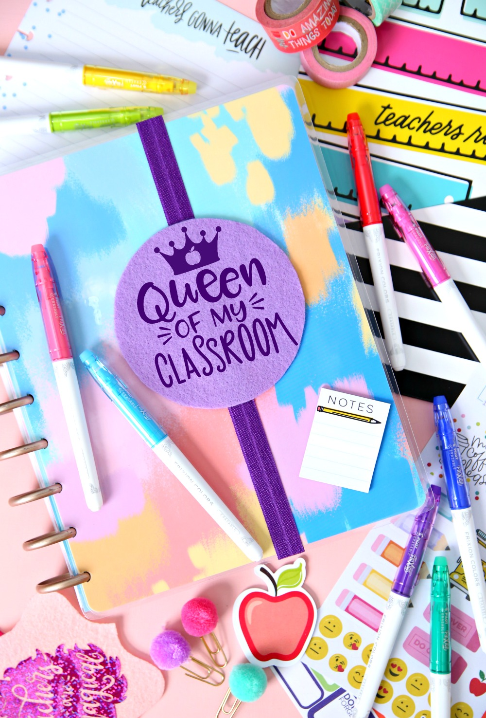 Planner Bookmark Queen of My Classroom - Elastic Bookmarks - Every teacher needs a planner and now they can add these cute Planner Bookmarks to make it extra special!