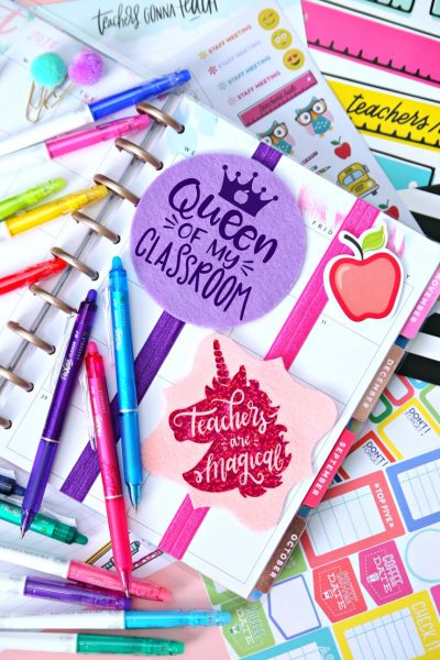 Planner Bookmarks Teacher Gift Free SVG Cut File