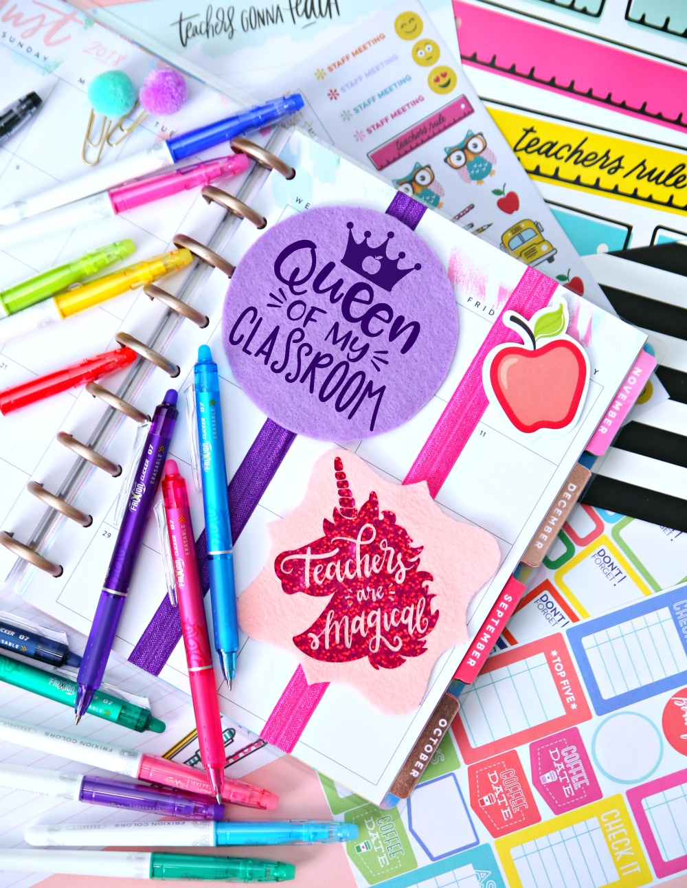 Planner Bookmarks Teacher Gift Free SVG Cut File - Elastic Bookmarks - Every teacher needs a planner and now they can add these cute Planner Bookmarks to make it extra special!