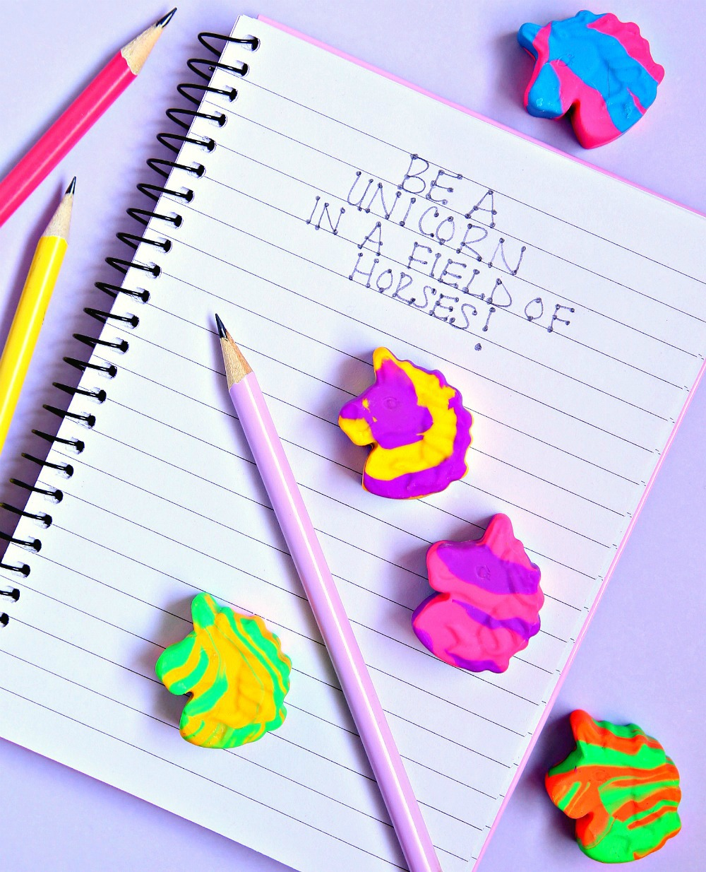 Make your own Unicorn Erasers with this simple tutorial.  Who knew it was this easy to make fun erasers?!