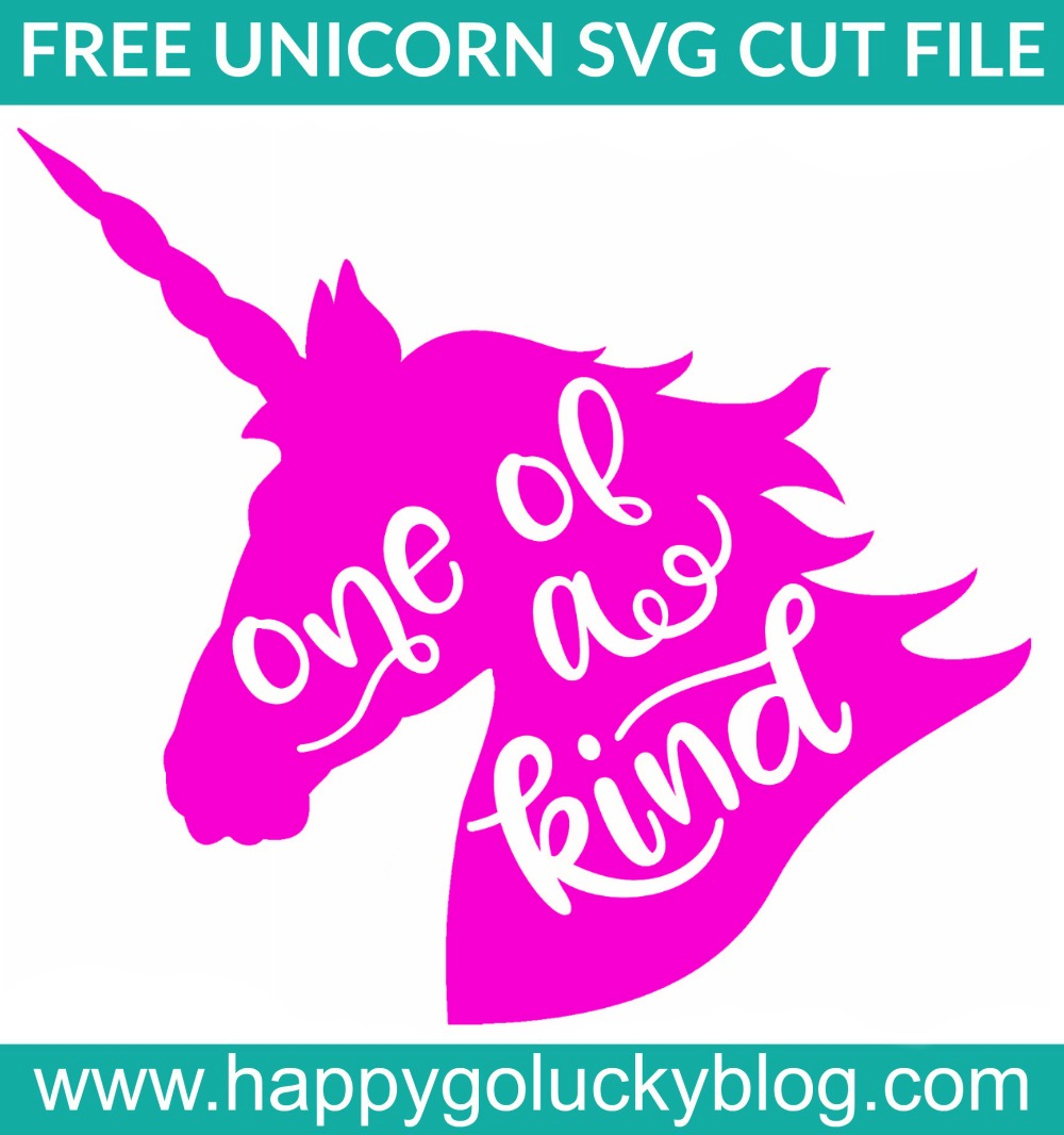 Unicorn One of a Kind SVG Cut File