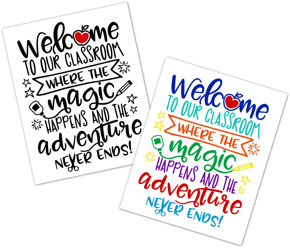 Welcome to our Classroom Free Printables Happy Go Lucky Blog