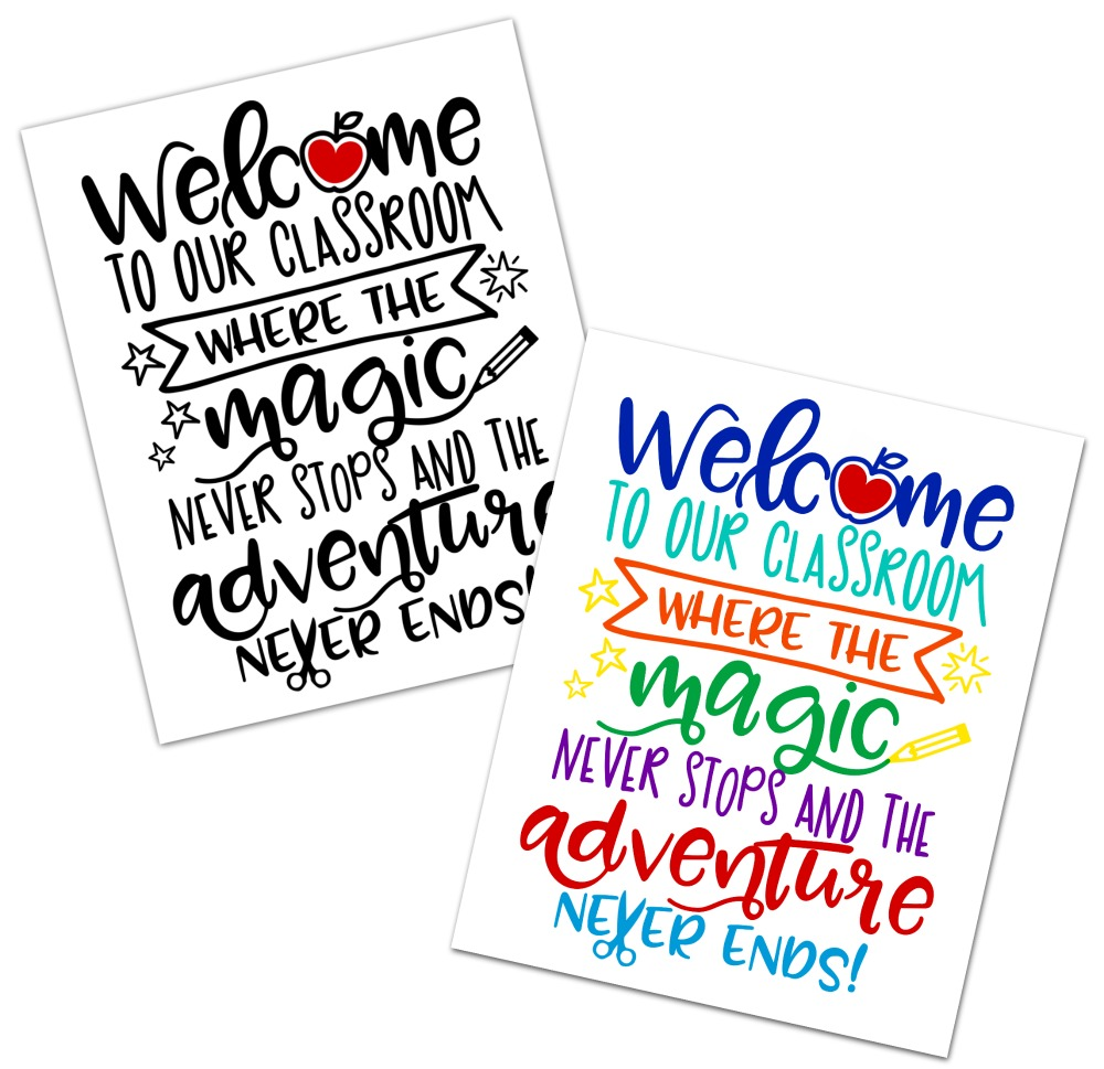 Classroom Free Printable and SVG Cut File