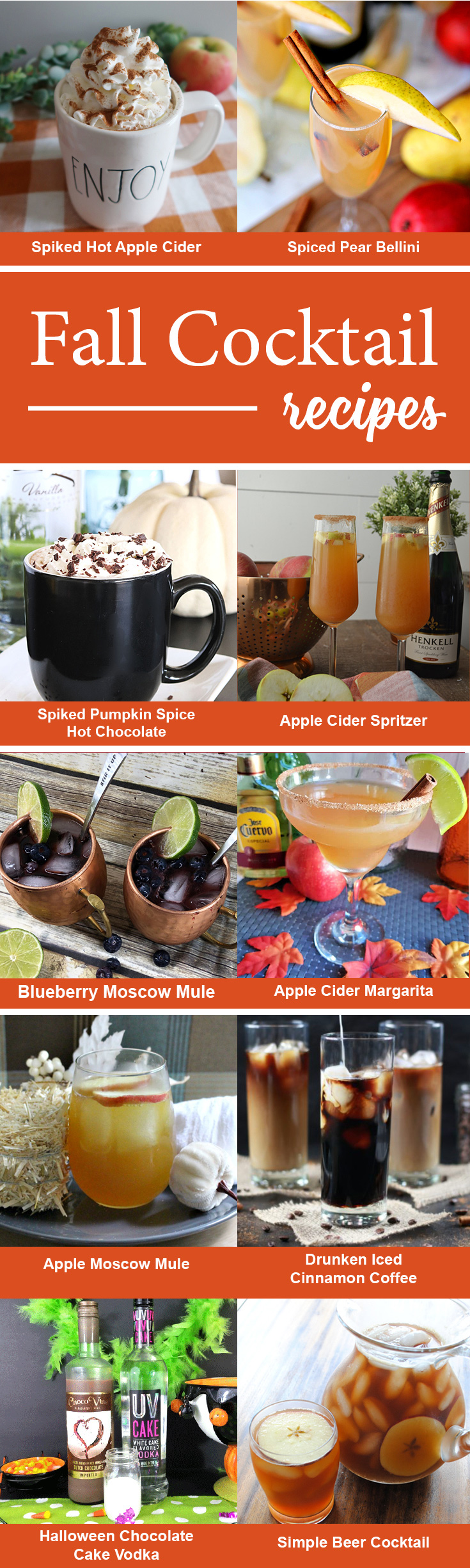 10 Fall Cocktails