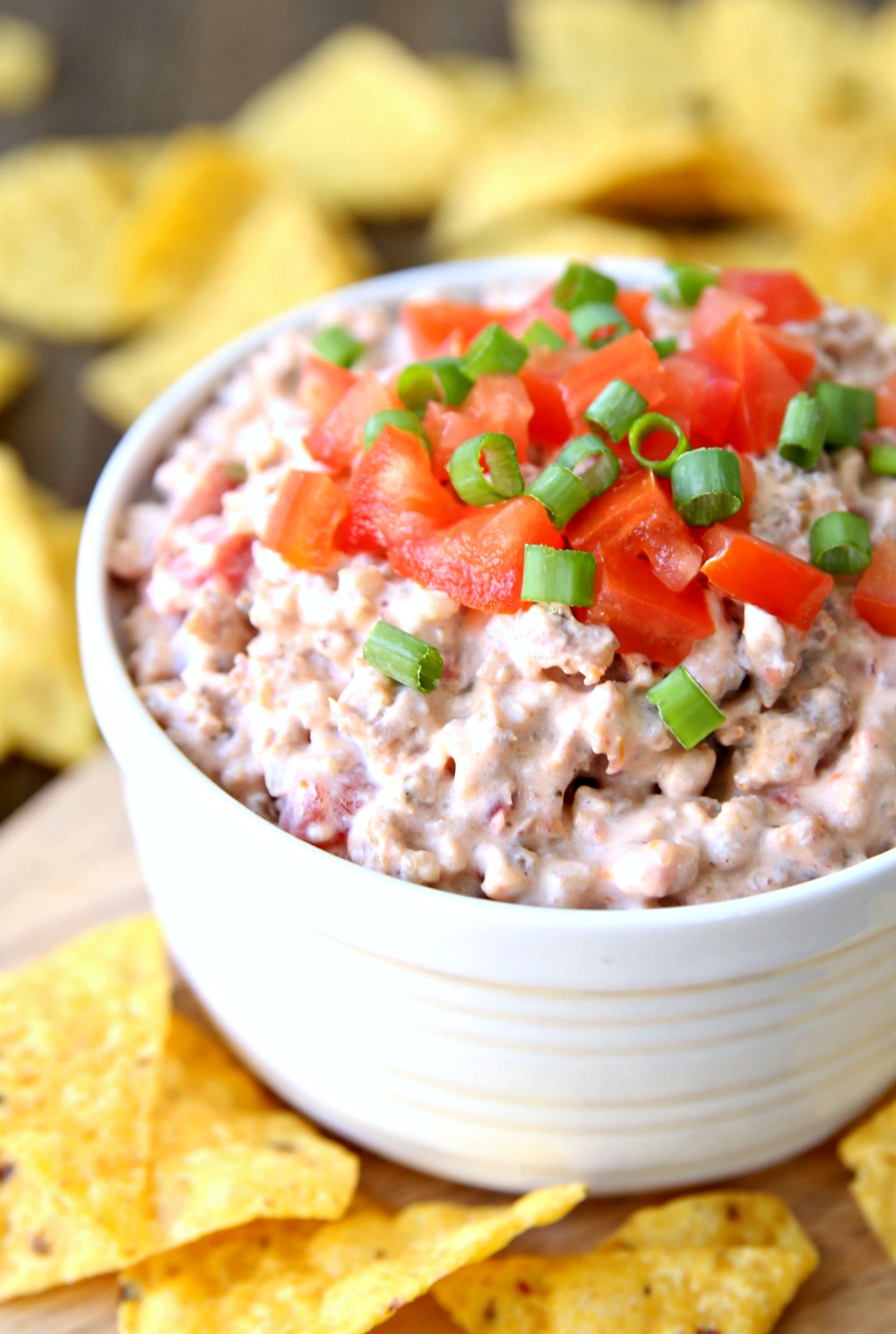 3 Ingredient Cheesy Sausage Dip The Best Appetizer!