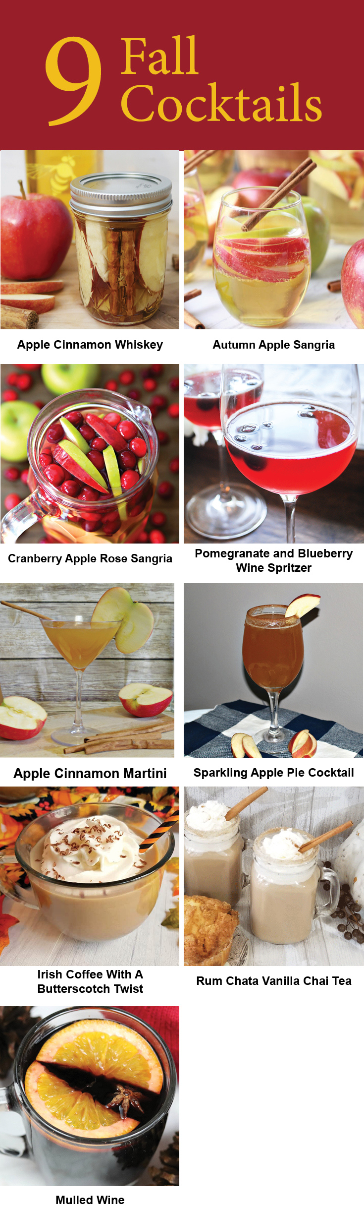 Fall Cocktails to make during these cool autumn months.