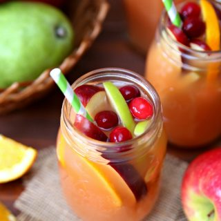 Autumn Harvest Rum Punch Recipe in mason jar