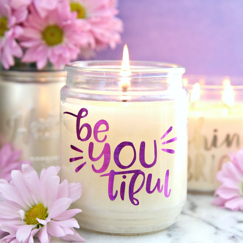 BeYOUtiful SVG cut file for candles
