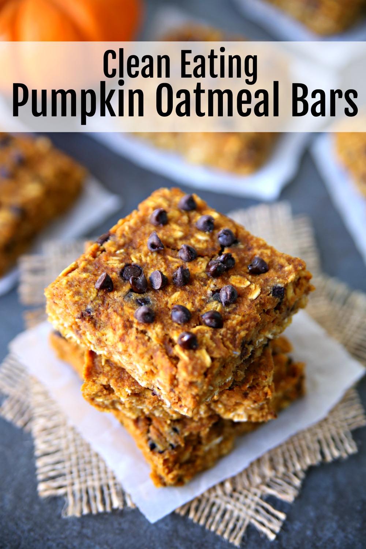 Clean Eating Pumpkin Oatmeal Bars