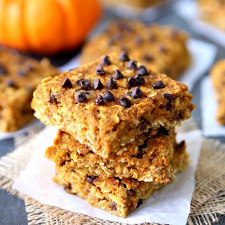 Healthy and Clean Eating Pumpkin Oatmeal Bars