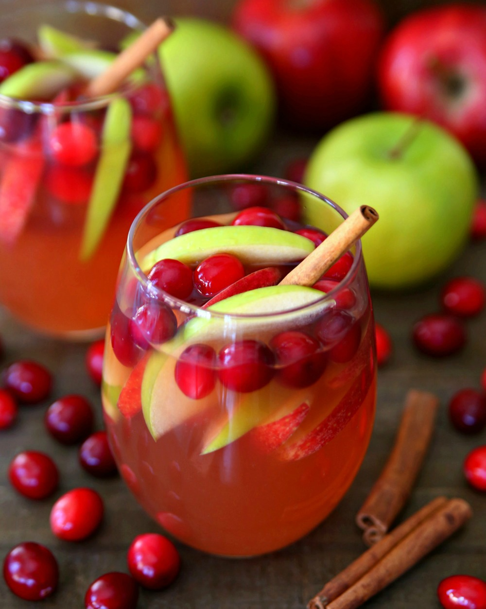 Cranberry Apple Sangria Fall Cocktail Autumn Rose Sangria