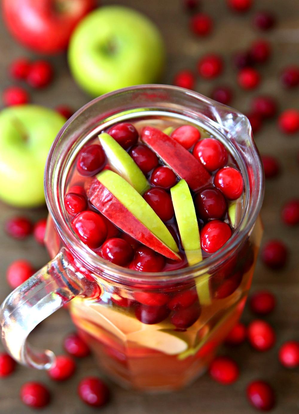 Cranberry Apple Rosé Sangria - The best autumn sangria recipe!