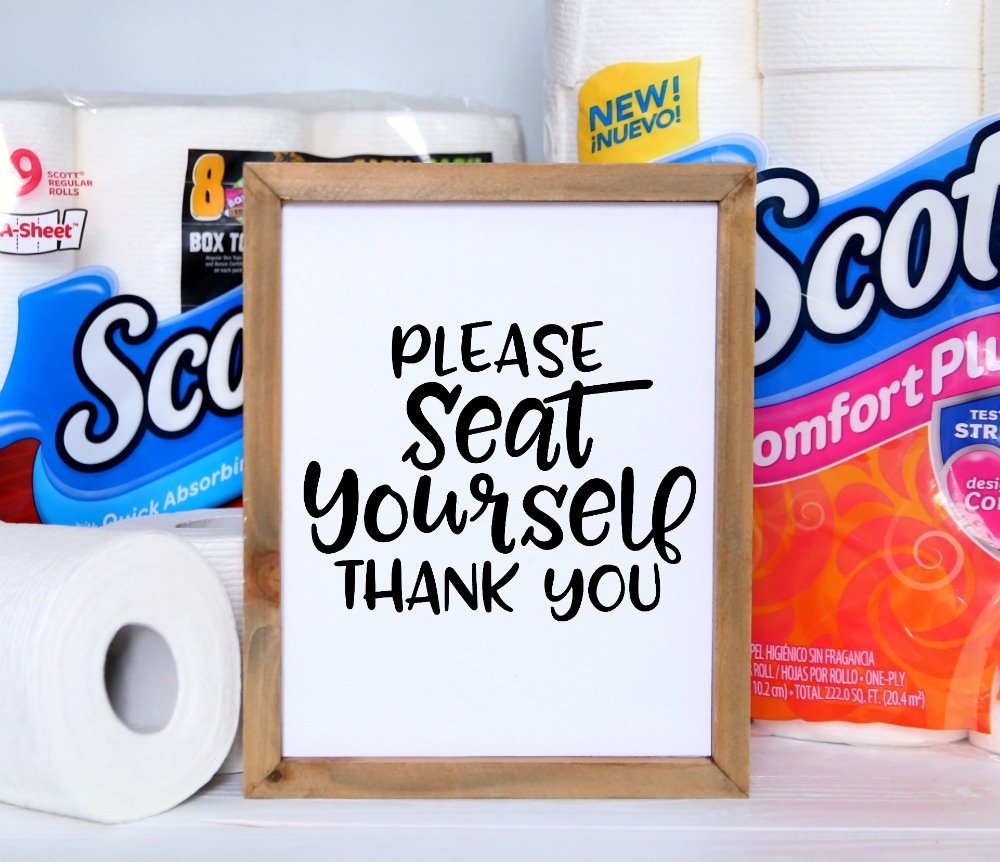 Please Seat Yourself Thank You Free Printable