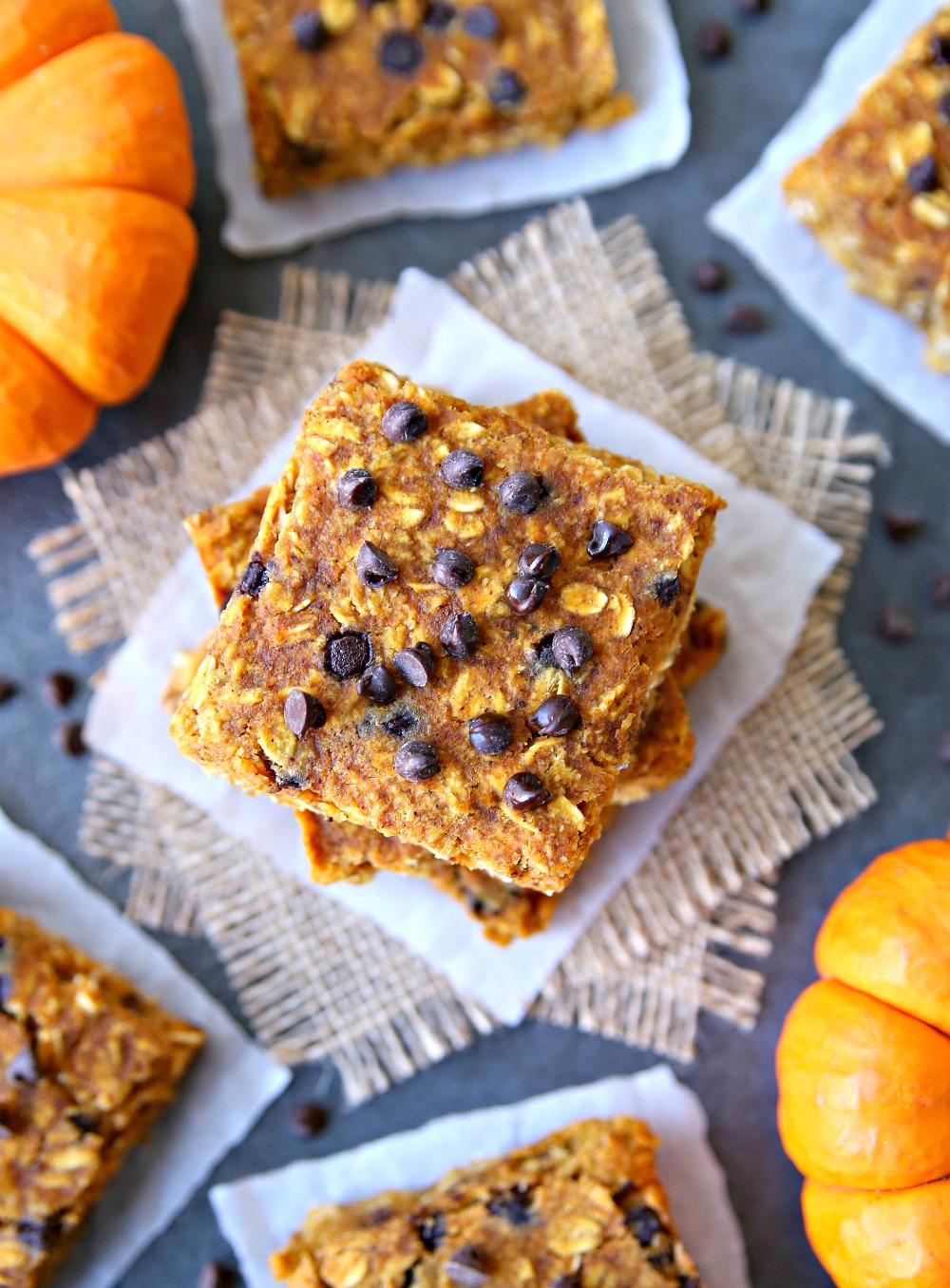 Pumpkin Oatmeal Bars Clean and Healthy Recipe