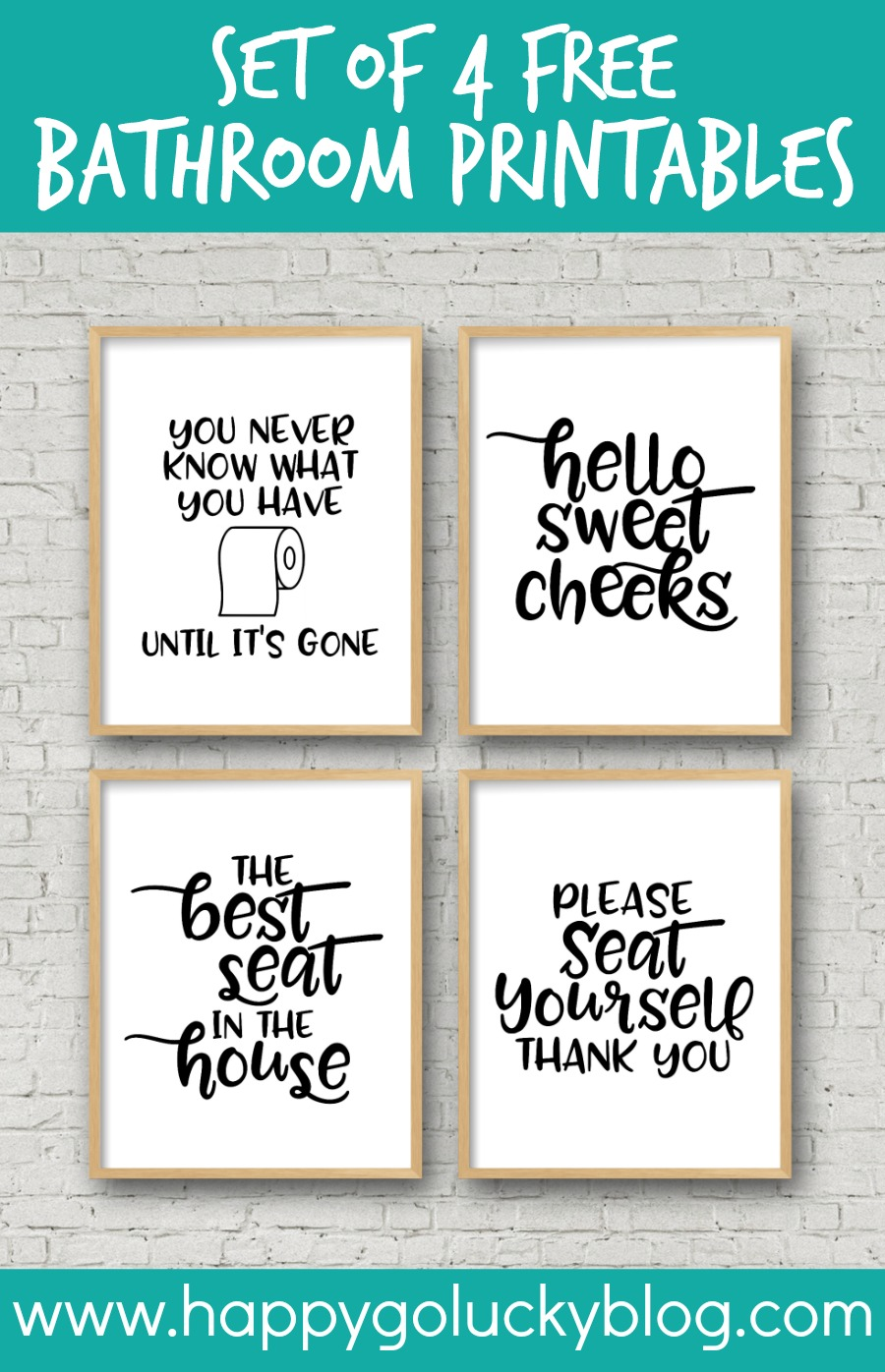 photograph about Funny Bathroom Signs Printable named Preset of 4 Printable Toilet Symptoms - Delighted-Shift-Fortunate