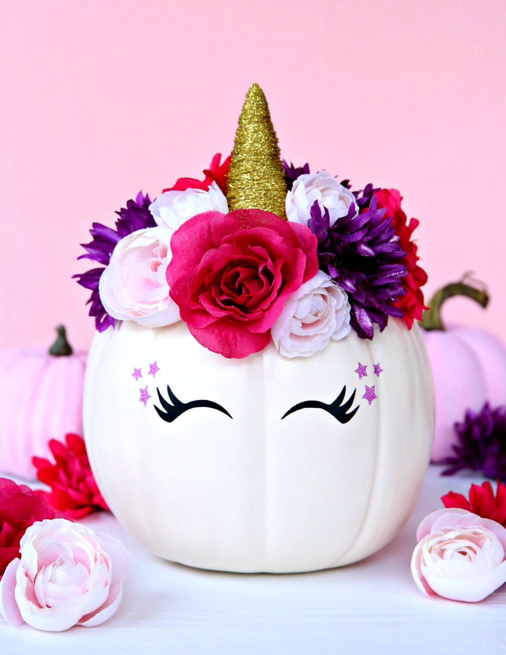 Magical Unicorn Pumpkin 15 Minute Craft Project Happy Go Lucky