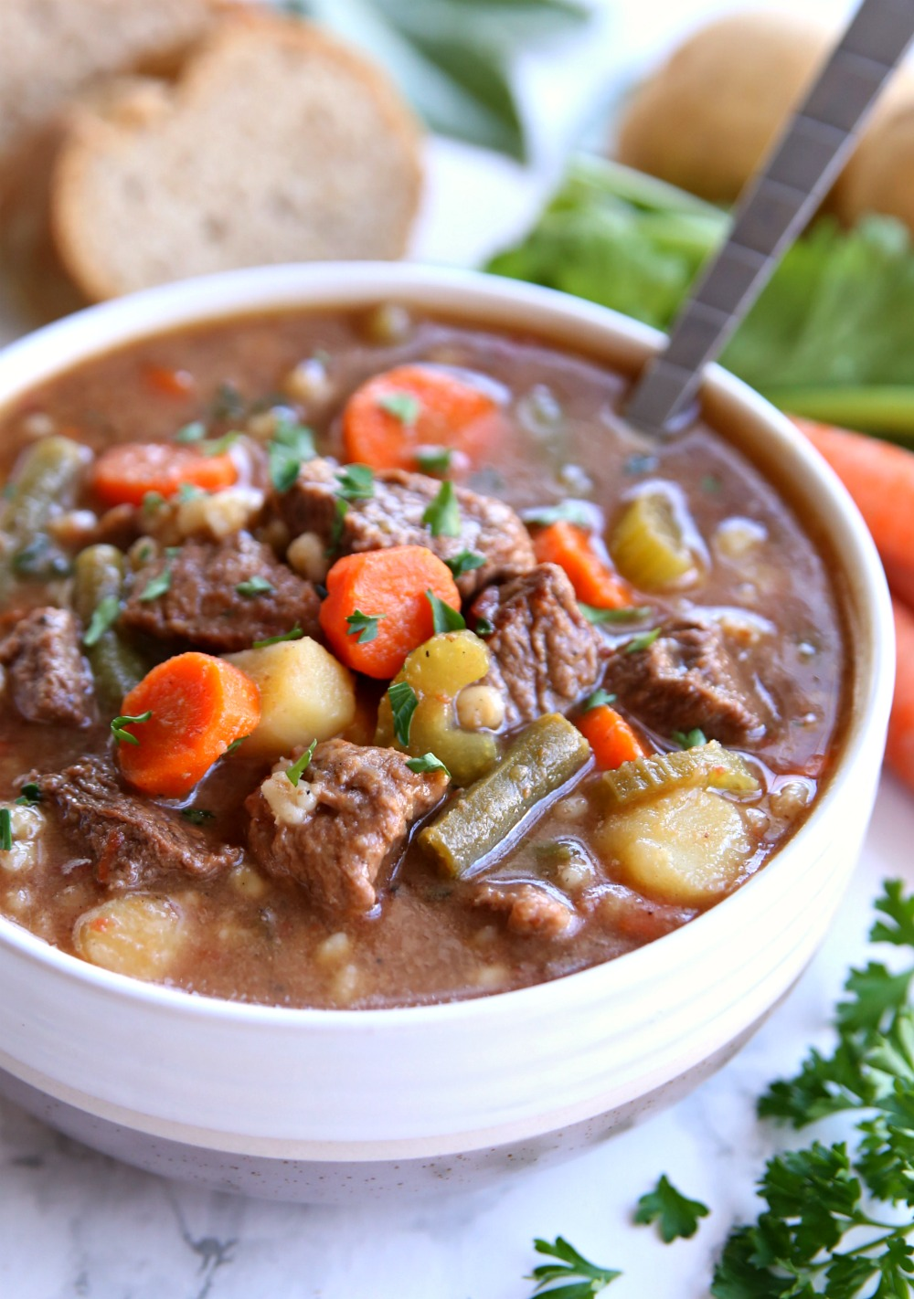 Beef an Barley Vegetable Soup